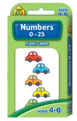 Numbers 0 - 25 : Flash Cards