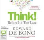 Think! : Before it's Too Late - Edward De Bono