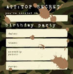 You're Invited - Birthday Camouflage - Stationery