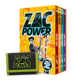 Zac Power Boxed Set of 4 Books with Wallet : Lunar Strike, Shock Music, Poision Island, Frozen Fear - H. I. Larry