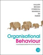Organisational Behaviour : A Psychological Perspective for the Asia-Pacific - Thomas Kalliath