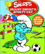 Smurfs Shaped Board Book : Brainy Smurf's Sporty Day - Five Mile Press The