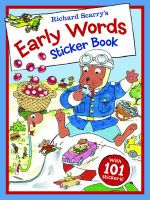 Richard Scarry - Early Words Sticker Book - Richard Scarry