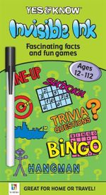 Yes and Know Invisible Ink Ages 12-112 : Yes and Know