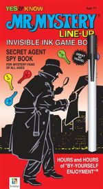 Mr Mystery Line-up Invisible Ink Game Book