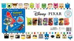 Disney Pixar Pencil Set : Includes : 24 erasers, 12 grey pencils, 12 coloured pencils, 32-page book