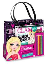 Glamour Girl Fashion Designer Tote Bag : Glamour Girl