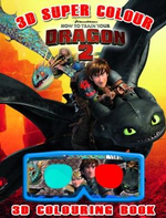 How to Train Your Dragon 2 : 3D Super Colouring Book - Red Bird Publishing