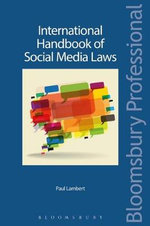 International Handbook of Social Media Laws - Paul Lambert