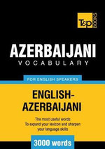 T &p English-Azerbaijani Vocabulary 3000 Words - Andrey Taranov