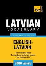T&p English-Latvian Vocabulary 3000 Words - Andrey Taranov