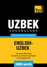 T &p English-Uzbek Vocabulary 3000 Words - Andrey Taranov
