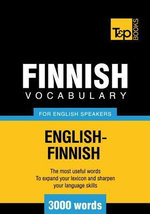 T&p English-Finnish Vocabulary 3000 Words - Andrey Taranov