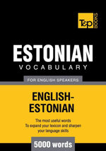 T&p English-Estonian Vocabulary 5000 Words - Andrey Taranov