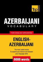 T&p English-Azerbaijani Vocabulary 9000 Words - Andrey Taranov