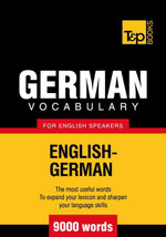 T&p English-German Vocabulary 9000 Words - Andrey Taranov
