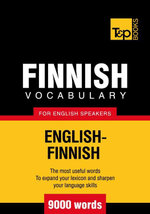 T&p English-Finnish Vocabulary 9000 Words - Andrey Taranov