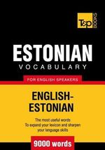 T&p English-Estonian Vocabulary 9000 Words - Andrey Taranov