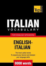T&p English-Italian Vocabulary 9000 Words - Andrey Taranov