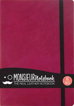 Monsieur Notebook - Real Leather A5 Pink Ruled - Monsieur