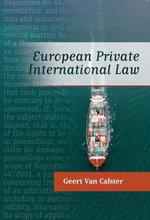 European Private International Law - Geert Van Calster
