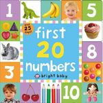 First 20 Numbers : Bright Baby Lift-the-Flap Tab Books - Roger Priddy