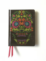 Colour Floral Skull (Foiled Journal) - FLAME TREE