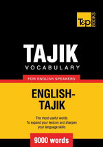 Tajik vocabulary for English speakers - 9000 words - Andrey Taranov