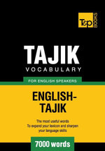 Tajik vocabulary for English speakers - 7000 words - Andrey Taranov