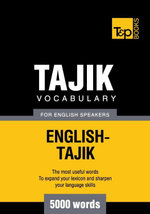 Tajik vocabulary for English speakers - 5000 words - Andrey Taranov