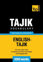 Tajik vocabulary for English speakers - 3000 words - Andrey Taranov
