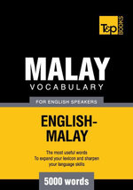 Malay vocabulary for English speakers - 5000 words - Andrey Taranov