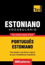Vocabulario Portugues-Estoniano - 9000 palavras mais uteis - Andrey Taranov