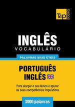 Vocabulario Portugues-Ingles britânico - 3000 palavras mais uteis - Andrey Taranov