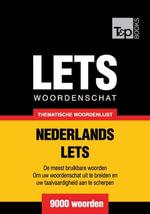 Thematische woordenschat Nederlands-Lets - 9000 woorden - Andrey Taranov