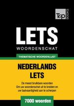 Thematische woordenschat Nederlands-Lets - 7000 woorden - Andrey Taranov