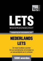 Thematische woordenschat Nederlands-Lets - 5000 woorden - Andrey Taranov