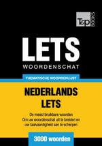 Thematische woordenschat Nederlands-Lets - 3000 woorden - Andrey Taranov