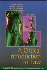 Critical Introduction to Law - Wade Mansell