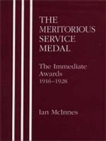 Meritorious Service Medal : The Immediate Awards - Ian McInnes