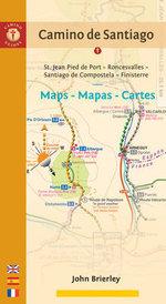 Camino De Santiago Maps - Mapas - Cartes : St. Jean Pied De Port - Roncesvalles - Santiago De Compostela - Finisterre - John Brierley