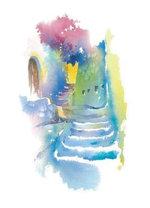 Greek Stairway : Art Cards - Jackie Barrass