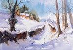 Snowy Lane : Art Cards - Arnold Lowrey