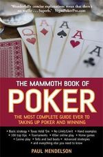 The Mammoth Book of Poker : Mammoth Books - Paul Mendelson