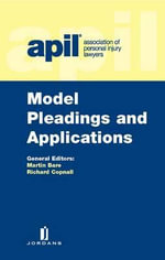APIL Model Pleadings and Applications : Second Edition - Martin Bare