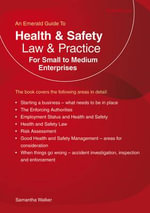 Health and Safety Law and Practice : For Small to Medium Enterprises - Samantha Walker