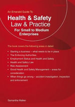 Health and Safety Law & Practice : For Small to Medium Enterprises - Samantha Walker
