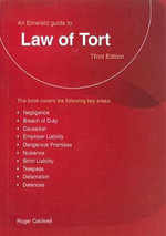 Law of Tort 2015 - Roger Caldwell