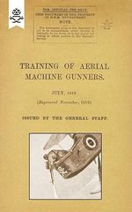 Training of Aerial Machine Gunners - The General Staff