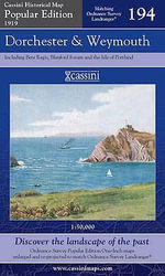 Dorchester and Weymouth : Cassini Popular Edition Historical Map